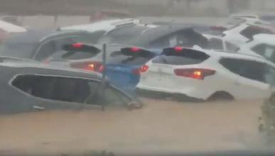 coches inundados Orihuela