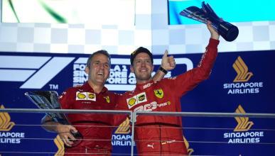 Iñaki Rueda y Sebastian Vettel