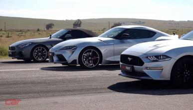 Toyota Supra vs BMW Z4 vs Ford Mustang GT