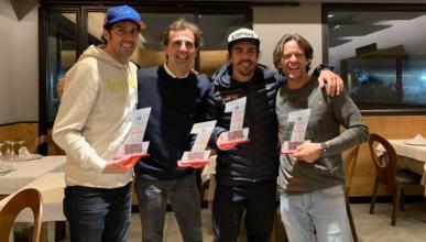 Alonso en el karting de Burgueño