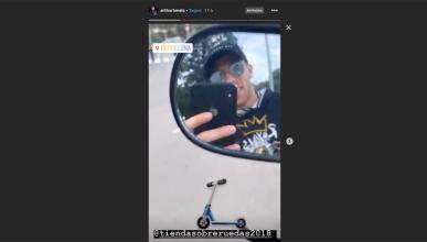 instagram temeridad futbol barça selfie irresponsable conducir