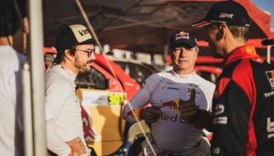 Fernando Alonso y Carlos Sainz en el Rally de Marruecos