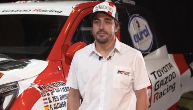 Fernando Alonso y el Toyota Hilux