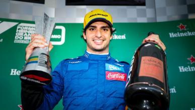 Carlos Sainz podio F1