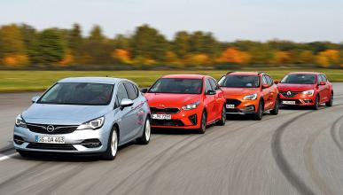 Comparativa: Opel Astra vs Kia Ceed, Ford Focus y Renault Mégane