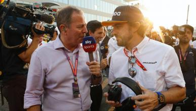 Alonso y Martin Brundle