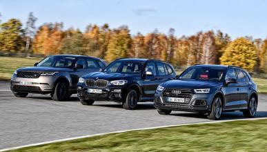 Comparativa del Audi SQ5, el BMW X3 y el Range Rover Velar