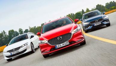 Comparativa del Mazda6 Wagon, Peugeot 508 SW y Volvo V60