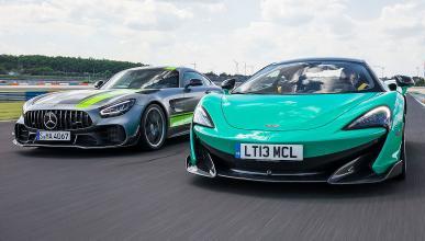 Comparativa del McLaren 600LT vs Mercedes-AMG GT R Pro