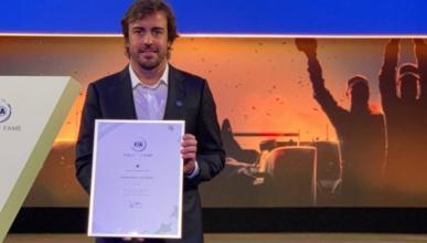Fernando Alonso en el FIA Hall of Fame WEC