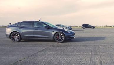 Tesla Model 3 Performance vs Audi RS 5 Sportback vs Mercedes-AMG GLC 63 S