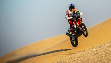 arena desierto rally off-road arabia salto