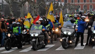 concentracion motos motera moteros valladolid frio