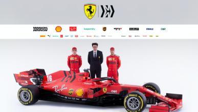 Binotto y los pilotos de Ferrari