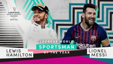 Hamilton y Messi ganan el Premio Laureus