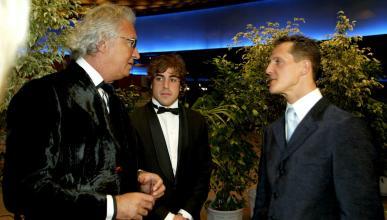 Fernando Alonso, Flavio Briatore y Michael Schumacher