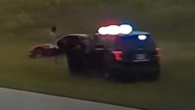 Chevrolet Corvette accidente