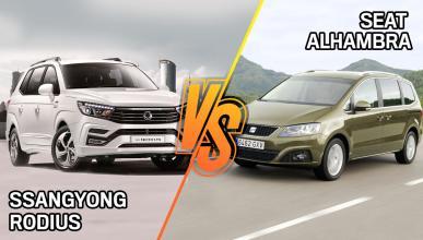 Seat Alhambra o SsangYong Rodius ¿cuál es mejor?