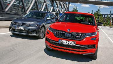 Comparativa del Skoda Kodiaq RS vs Volkswagen Tiguan Allspace