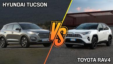 Hyundai Tucson vs Toyota RAV4 de segunda mano