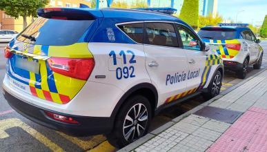 El coche chino de la Policía de Burgos