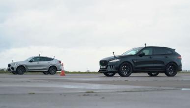 BMW X6 M Competition vs Lister Jaguar F-Pace SVR