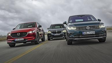 Mazda CX-5, BMW X1 y Volkswagen Tiguan
