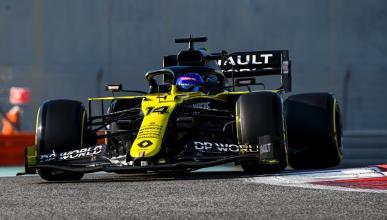 Fernando Alonso en el test de Abu Dhabi