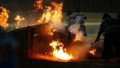 Accidente de Romain Grosjean en Bahréin