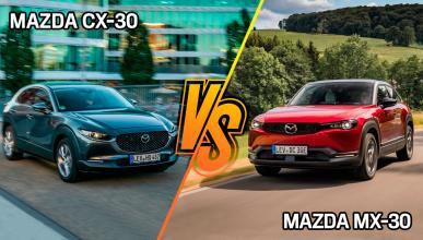 Mazda CX-30 o Mazda MX-30: ¿dónde es mejor y peor cada uno?
