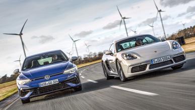 Comparativa VW Golf R vs Porsche Cayman 718