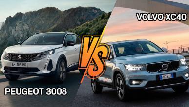 Peugeot 3008 2021 o Volvo XC40, ¿cuál es mejor?