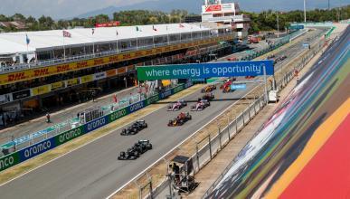 Salida del GP Espana 2013