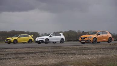 Honda Civic Type R vs Renault Megane RS Trophy vs Volkswagen Golf GTI Clubsport