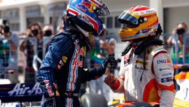Fernando Alonso y Webber Hungria 2009