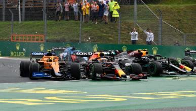 Accidente salida GP Hungria 2021
