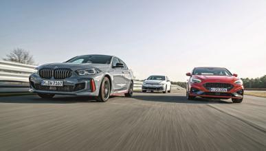 Comparativa BMW 128ti vs Ford Focus ST vs Volkswagen Golf GTI