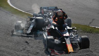 Accidente de Verstappen y Hamilton en Monza
