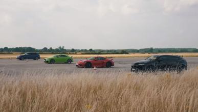 Lamborghini Urus vs Audi TT RS vs Porsche Cayman GT4 vs Volkswagen Golf R