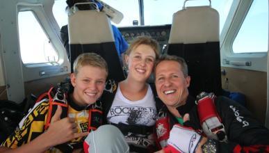 Michael Schumacher y sus hijos