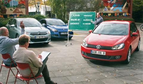 Renault Megane, Citroën C4 y VW Golf