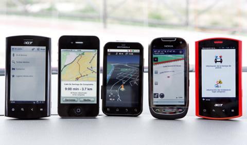 5 gps analizados en esta comparativa de apps para el coche