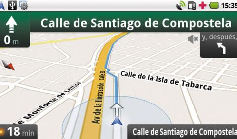 Google Maps Navigation (beta) gps para el coche