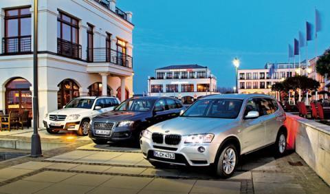 BMW-X3-Audi-Q5-Mercedes-GLK-frontal