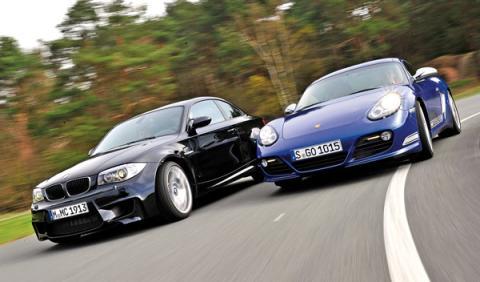BMW-Serie-1-M-Coupé-Porsche-Cyaman-R-delantera