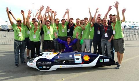 Equipo francés del Eco-marathon