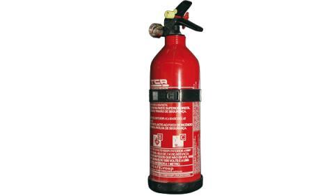 Extintor, uno de los principales objetos que llevar en el coche