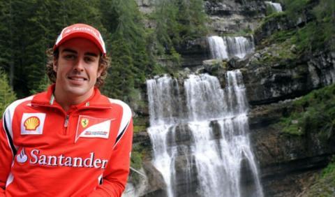 Fernando Alonso en el norte de Italia, donde ha declarado que no tendría problemas si Hamilton fichara por Ferrari