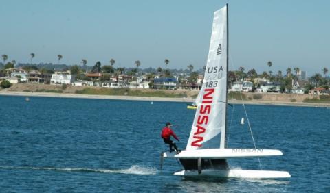 El catamarán de Nissan