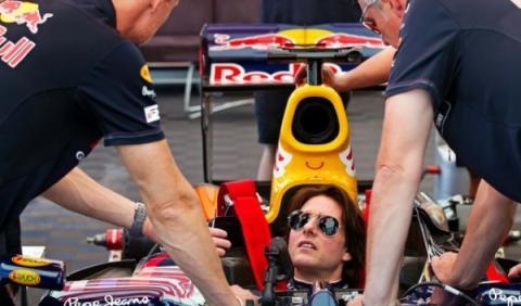 Tom Cruise en un Red Bull Fórmula 1